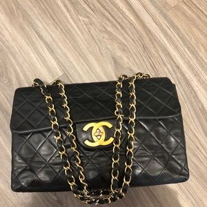 Authentic Chanel maxi lambskin bag